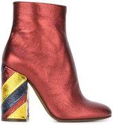 L'Autre Chose metallic striped heel ankle boots