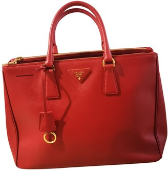 Prada saffiano Red Leather Handbags