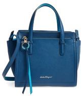 Salvatore Ferragamo Small Amy Leather Tote - Blue