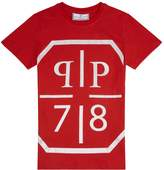 Philipp Plein Diamanté Logo T-Shirt, Red, 14 Years