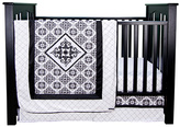 Trend Lab Black & White Versailles Crib Bedding Set