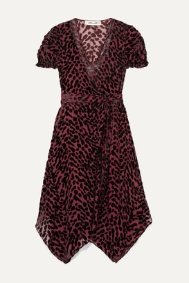 Diane von Furstenberg Katherine Asymmetric Devore-chiffon Wrap Dress