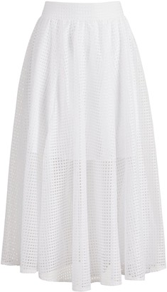 New York & Co. White Midi Skirt - 7th Avenue