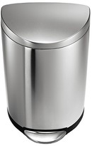 Simplehuman 40 Liter Semi-Round Step Trash Can in Fingerprint-Proof Brushed Stainless Steel