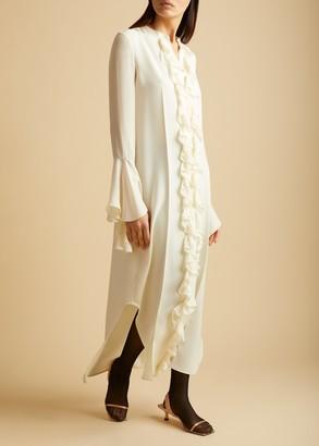 KHAITE The Callen Dress in Ivory