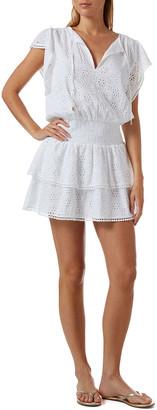 Melissa Odabash Keri Ruffle Tiered Print Coverup Dress