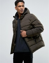 Celio Quilted Hooded Jacket