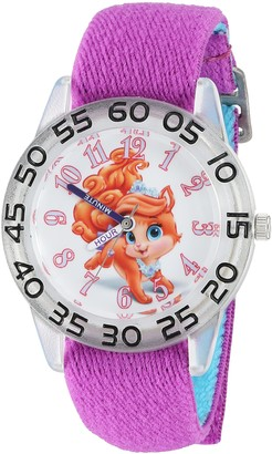 Disney Girl's 'Palace Pet' Quartz Plastic and Nylon Watch