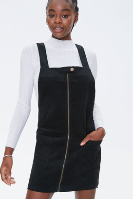 Forever 21 Zippered Pinafore Dress