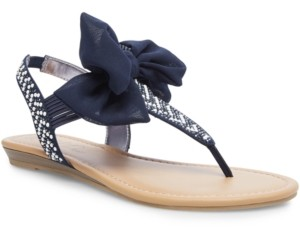 Wild Pair Swan Flat Thong Sandals, Created for Macy's Women's Shoes