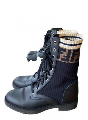 Fendi Black Rubber Ankle boots