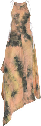 Ellery Galapagos Tie-Dye Linen-Blend Midi Dress