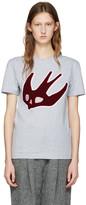 McQ by Alexander McQueen Grey Varsity Swallow T-shirt