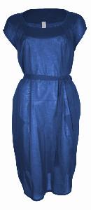 Format LOCK Blue Plain Dress - S - Blue