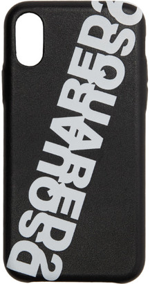 DSQUARED2 Black Ecopelle iPhone XS Case