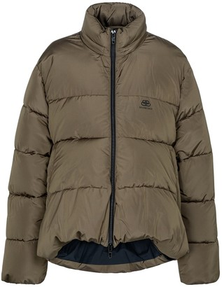Balenciaga C-SHAPE micro-faille puffer jacket