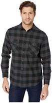 Burton Brighton Flannel (True Black Heather Buffalo Plaid) Men's Long Sleeve Button Up