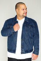 Yours Clothing DUKE Denim Jacket With Collar & Button Front