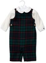 Ralph Lauren Infant Boys' Cotton Bodysuit & Wool Plaid Overall Set - Baby