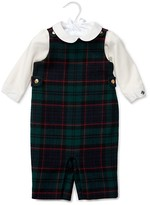 Ralph Lauren Infant Boys' Cotton Bodysuit & Wool Plaid Overall Set - Sizes 3-24 Months