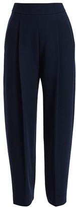 Oscar de la Renta Stretch-Wool Wide-Leg Pants