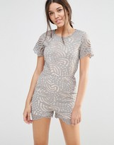 Missguided All Over Lace Detail Romper