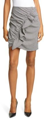 A.L.C. Jupiter Houndstooth Ruffle Miniskirt