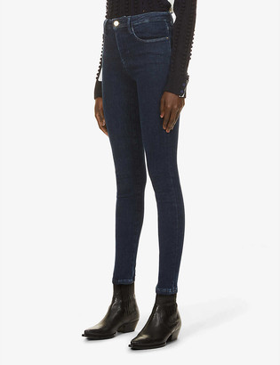 Frame Le One skinny high-rise organic cotton and recycled polyester-blend jeans