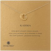 "Dogeared Karma"" -Plated Silver Three-Ring Necklace"