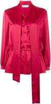 Balenciaga Lavalliere scarf blouse - women - Silk - 34