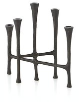 Crate & Barrel Rustic Bronze Metal Centerpiece Taper Candle Holder