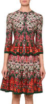 Alexander McQueen Floral Button-Front Cardigan