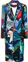 Julien David multi-print buttoned coat