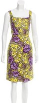 St. John Floral Print Knee-Length Dress w/ Tags