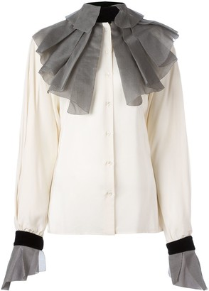 Gianfranco Ferre Pre Owned pleated collar and cuffs shirt
