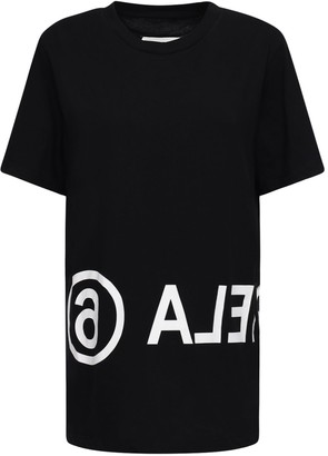 MM6 MAISON MARGIELA Over Logo Cotton Jersey T-shirt