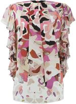 Roberto Cavalli kaleidoscope floral print blouse