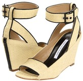 Diane von Furstenberg Senegal (Camel Raffia/Black Nappa) - Footwear