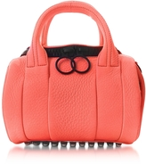 Alexander Wang Fluo Coral Mini Rockie Leather Satchel