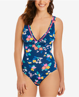 Vera Bradley Sea Tea Amanda Cutout-Trim One-Piece Swimsuit