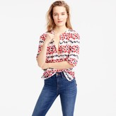 J.Crew Tall cotton-silk voile popover shirt in berry print