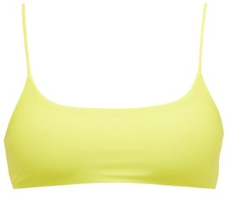 JADE SWIM Muse Scoop-neck Bikini Top - Womens - Light Green