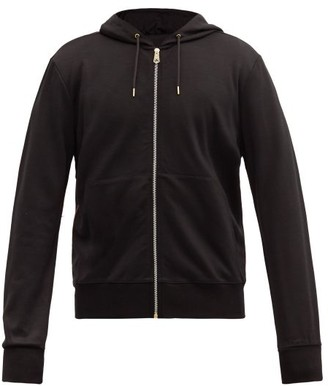Paul Smith Striped-trim Zip-through Wool Hooded Sweatshirt - Black