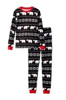 Petit Lem Polar Bear Fairisle PJ Set (Little Kids & Big Kids)