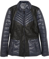 Leon Francis Leather And Quilted Shell Jacket