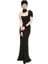 John Galliano One Shoulder Crepe Long Dress