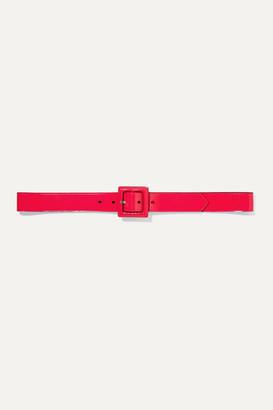 Saint Laurent Neon Patent-leather Belt - Bright pink
