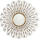 Asstd National Brand Golden Peacock Round Mirror