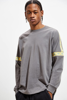 Urban Outfitters Drop Shoulder Ribbed Long Sleeve Tee