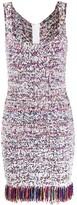Balmain fringed-hem tweed dress
